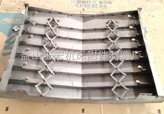横向型伸缩式钢板防护罩