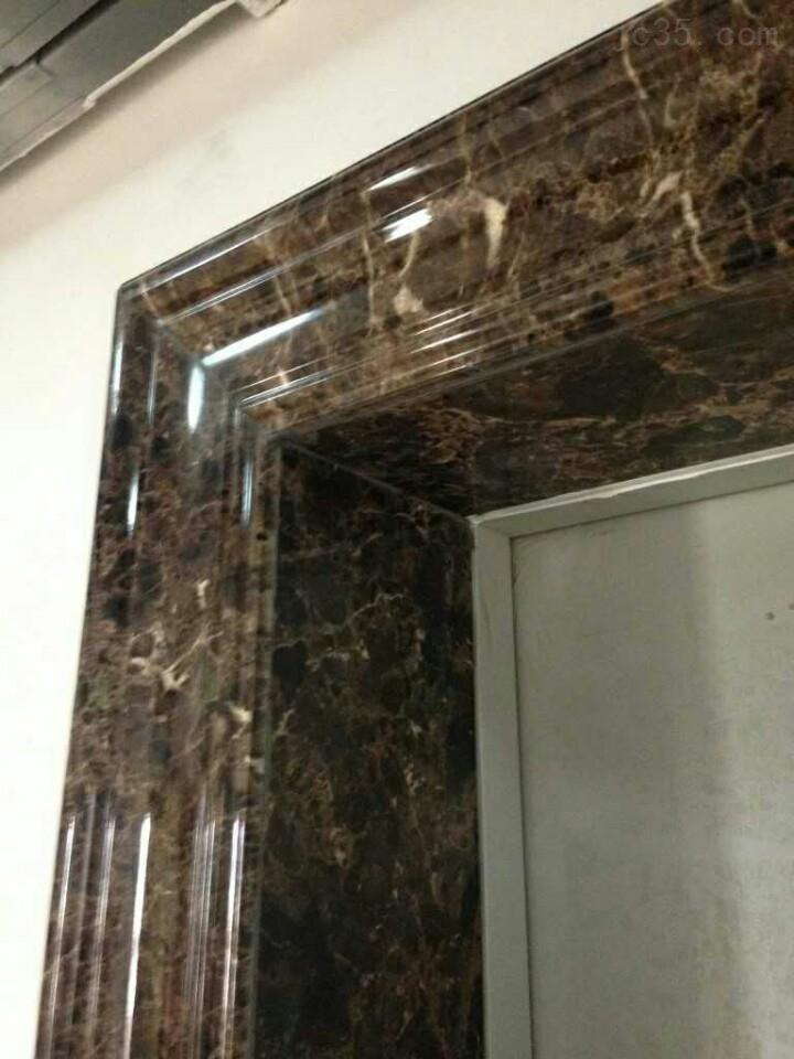 甘肃,宁夏仿大理石电梯套安装效果 人造石电梯门套