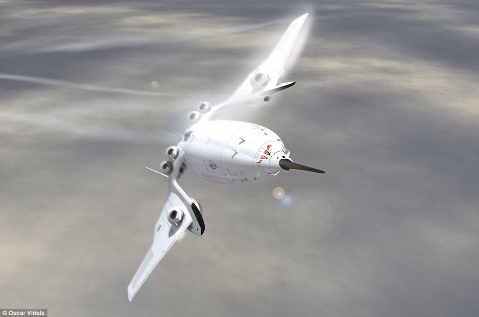 双层结构超音速概念飞机:时速3700公里