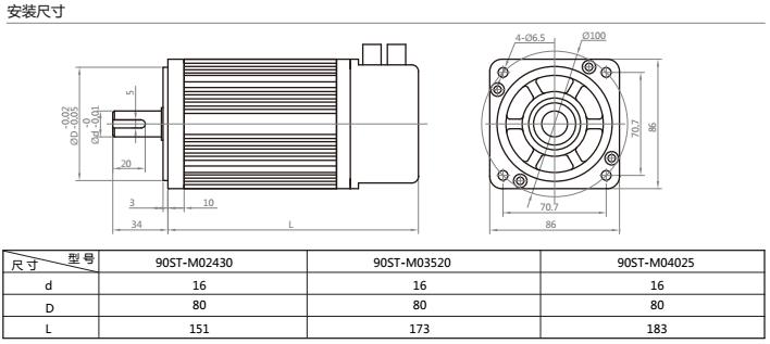 交流永磁伺服电机绕组接线图